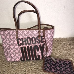 Choose Juicy Tote Bag Scottie Dog Pink & Case